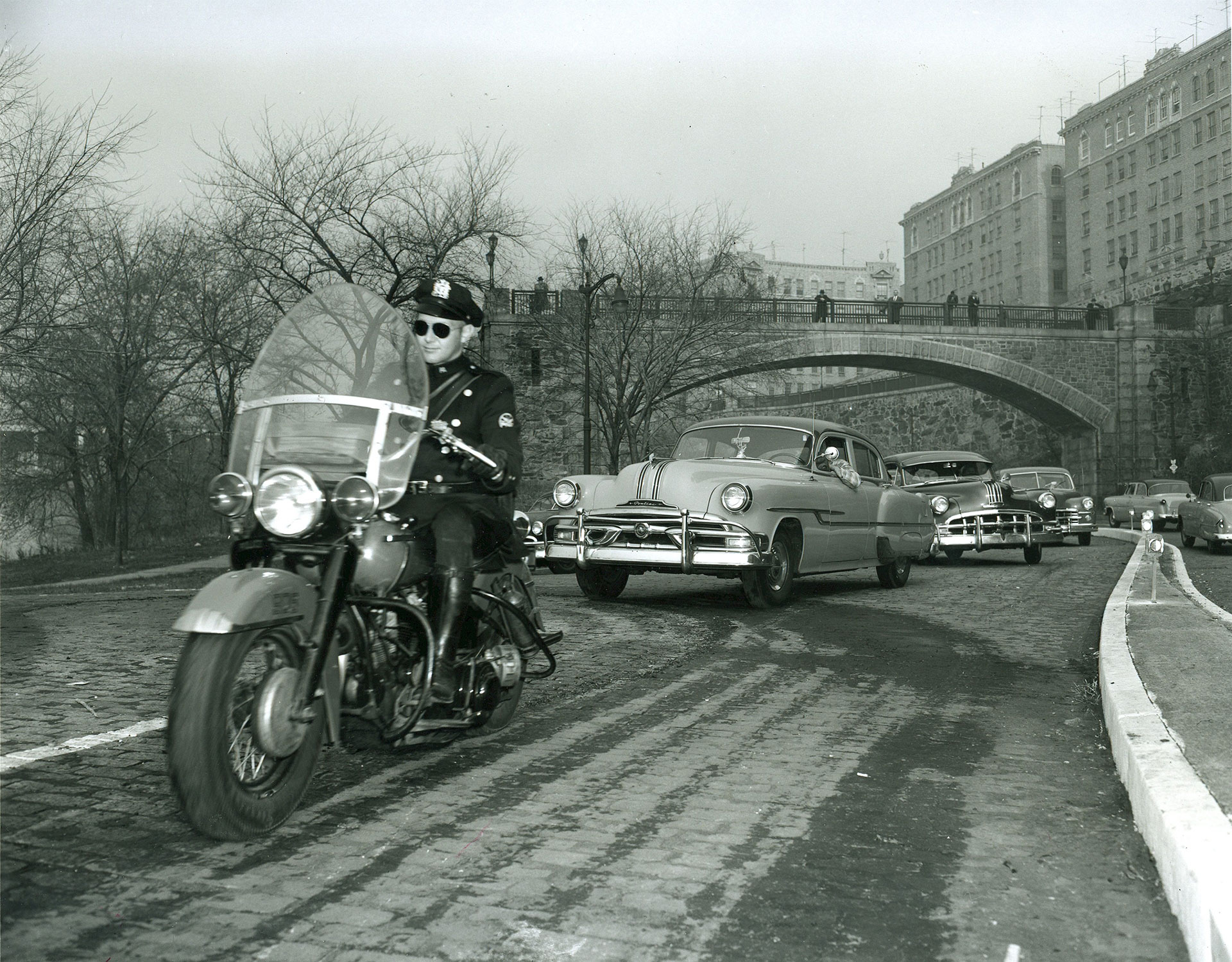 PAPD Motorcycle Officer from the 1940s